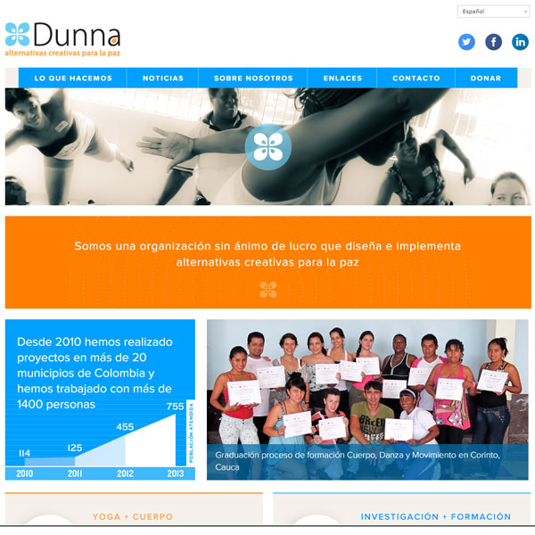 Web Corporación Dunna