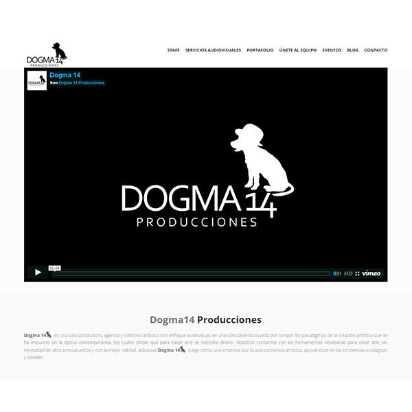 Web Dogma14 Producciones